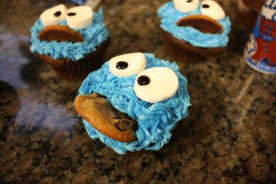 C is for cupcakeCookie Monster, Cookies Monsters Cupcakes, Food, Monster Cupcakes, Cups Cake, Yummy, Parties Ideas, Cupcakes Rosa-Choqu