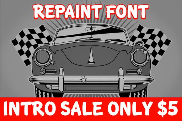 Check out Intro Sale | Repaint & Repair Font by Kustomtype on Creative Market