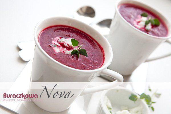 Zupa krem buraczkowa