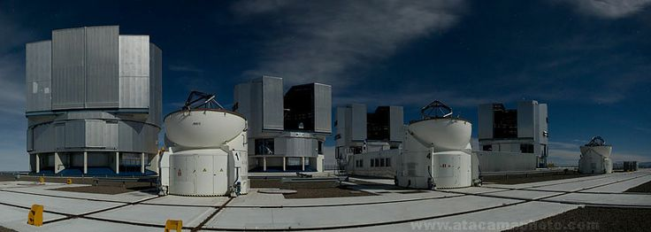 Photo Gallery of the VLT telescopes at Cerro Paranal. Chile