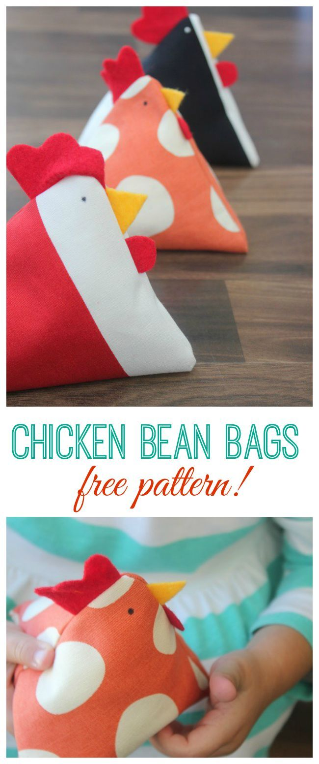Little Chicken Bean Bags: Free instructions and instructions # sewing # sewing instructions # sewing …   – sewing crafts