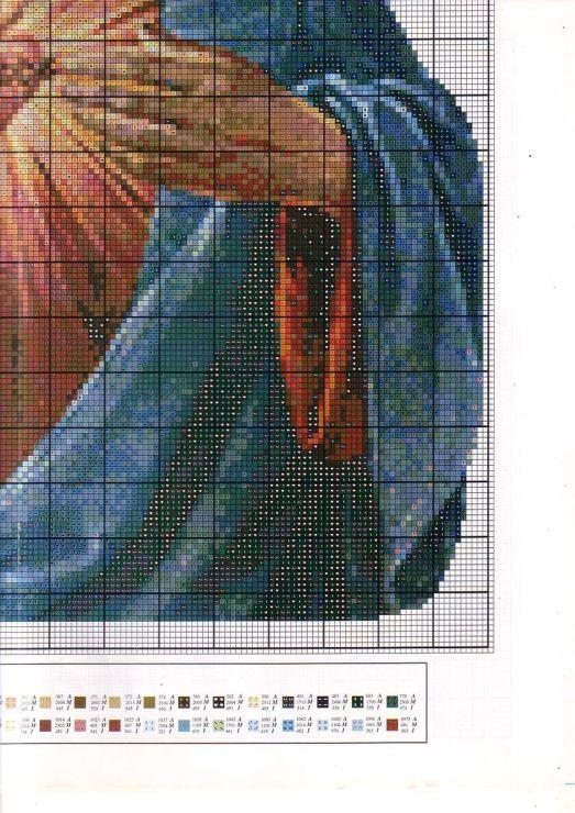 Punto de cruz: Sagrado Corazón de Jesús 4/4