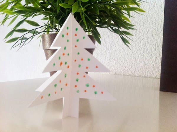 Manualidades navidad rbol de cartulina christmas craft - Manualidades para hacer en navidad ...