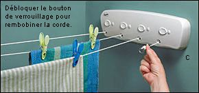 Best 25 etendoir linge ideas on pinterest tendoir de - Etendoir a linge mural retractable ...