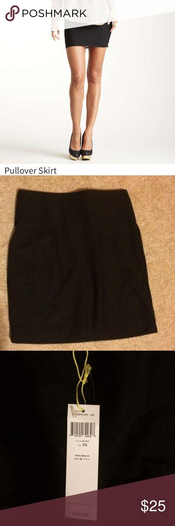 🎉🎉BCBGenerationblack skirt NWT NWT fold over black skirt BCBGeneration Skirts Mini