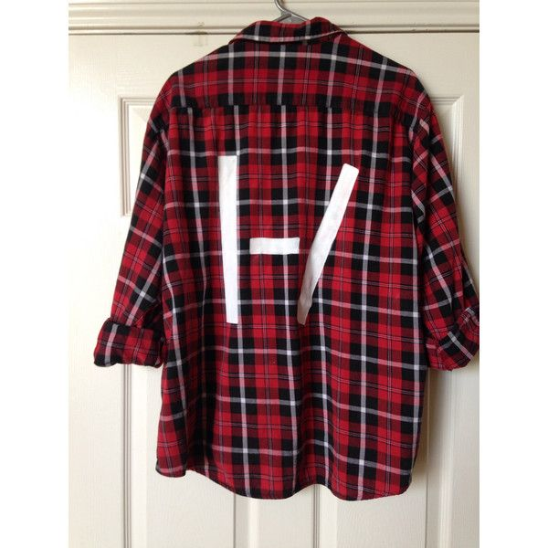 Twenty one pilots handpainted flannel (82 BRL) ❤ liked on Polyvore featuring flannel, tops and 21p