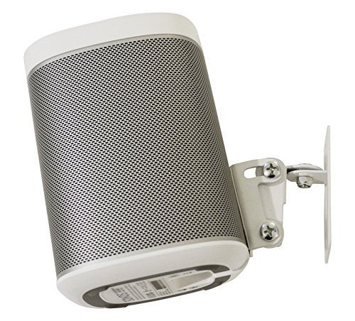 SONOS PLAY 1 Wall Mount, Adjustable Swivel & Tilt Mechanism, Single Bracket For Play:1 Speaker with Mounting Accessories, White, Designed In the UK by Soundbass�