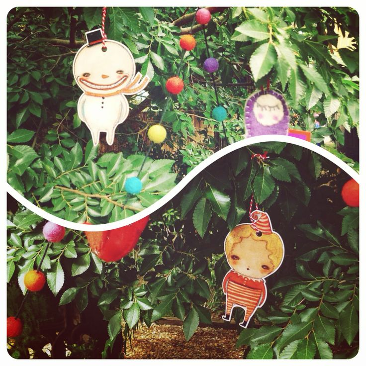La La Land plywood ornaments at Little Red Riding Hood Plant Nursery and Gift Shop -  Wollombi, NSW