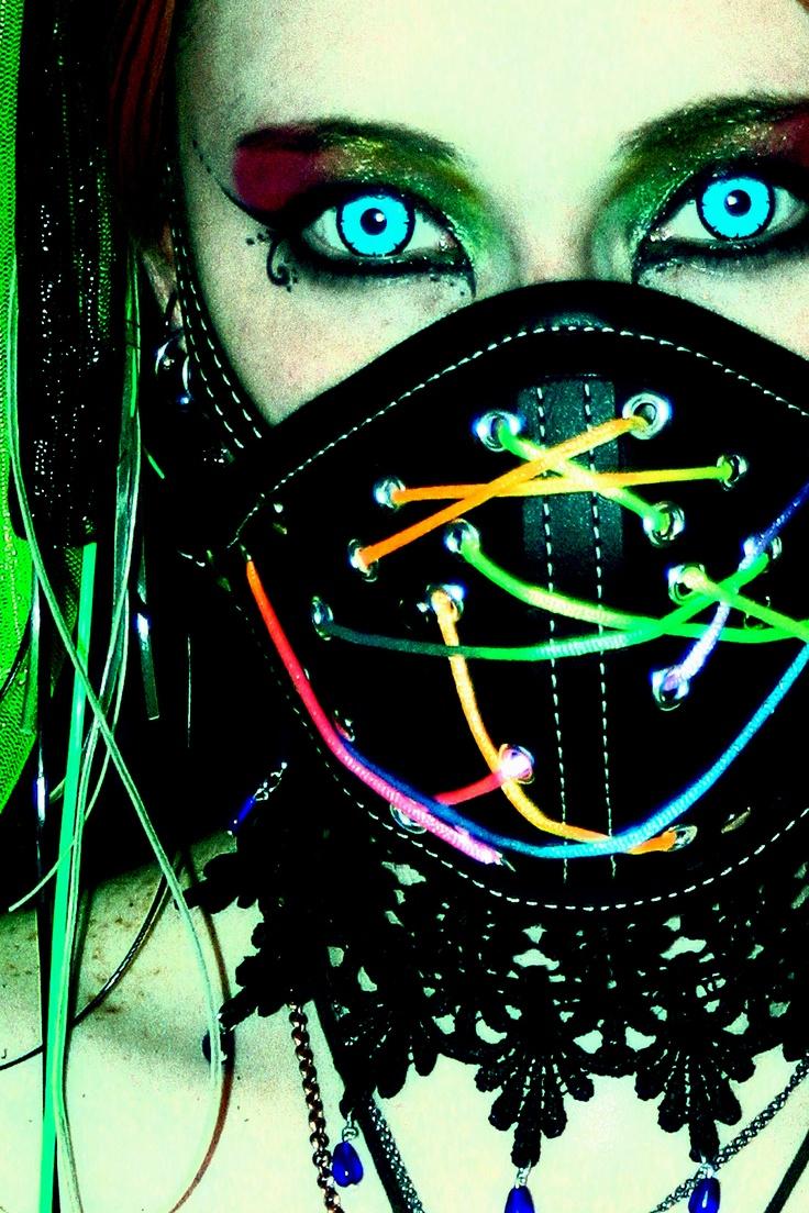Rave Mask Rave Goth Girl Pinterest