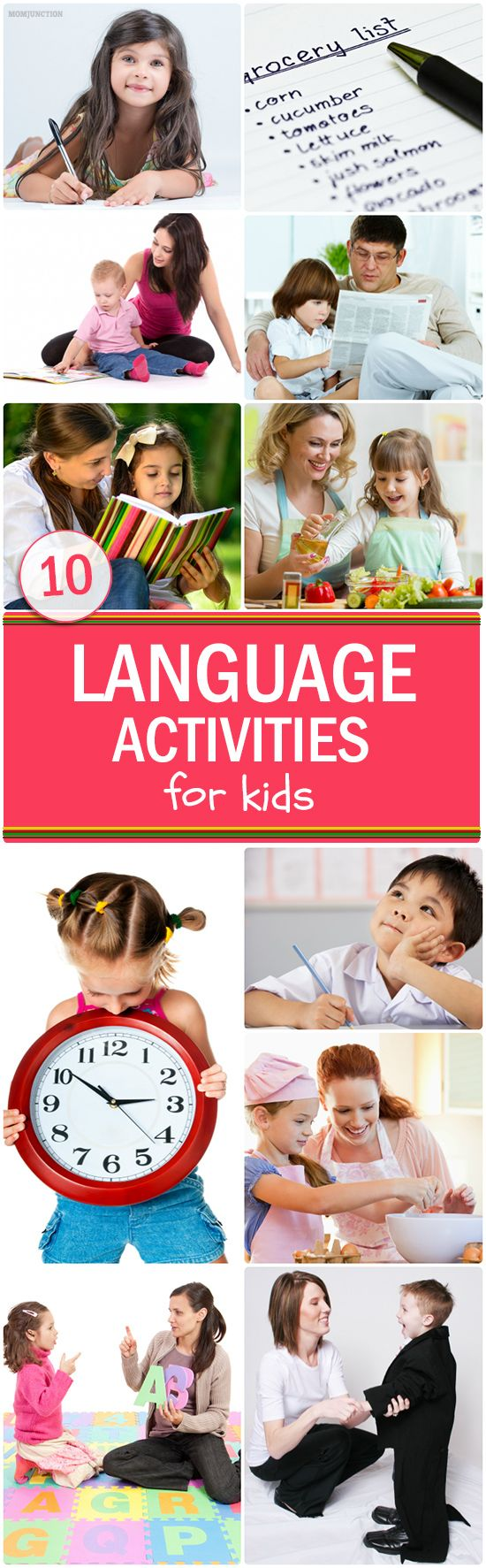 Language Activities For Kids: Language is one of the greatest achievements of mankind. The spoken and written word has the power to change the world. But it all starts slowly! With every word your child learns to speak, read and write, she is taking a step closer to becoming a leader.Here are a few #Activities you can explore together!