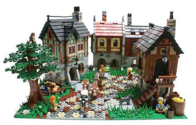 Cute mini medieval village!