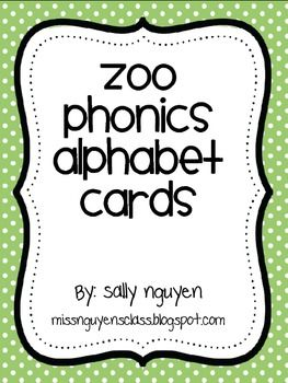 Zoo Phonics Alphabet Cards-love this. It's fun for the little ones