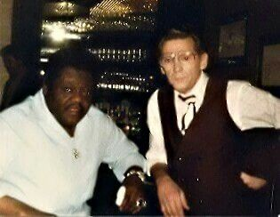 Jerry Lee Lewis with Fats Domino.