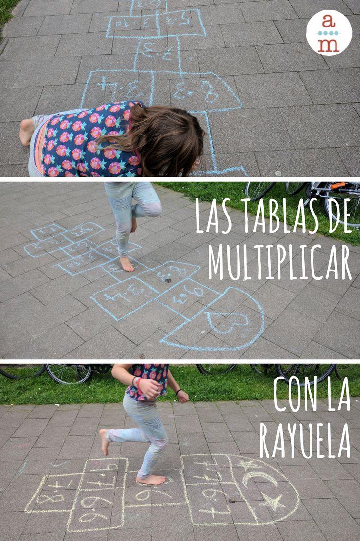Aprende las tablas de multiplicar jugando con la rayuela