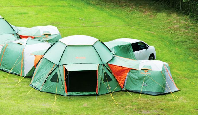 Decagon Modular Tents Endless Combination Of Luxury Camping