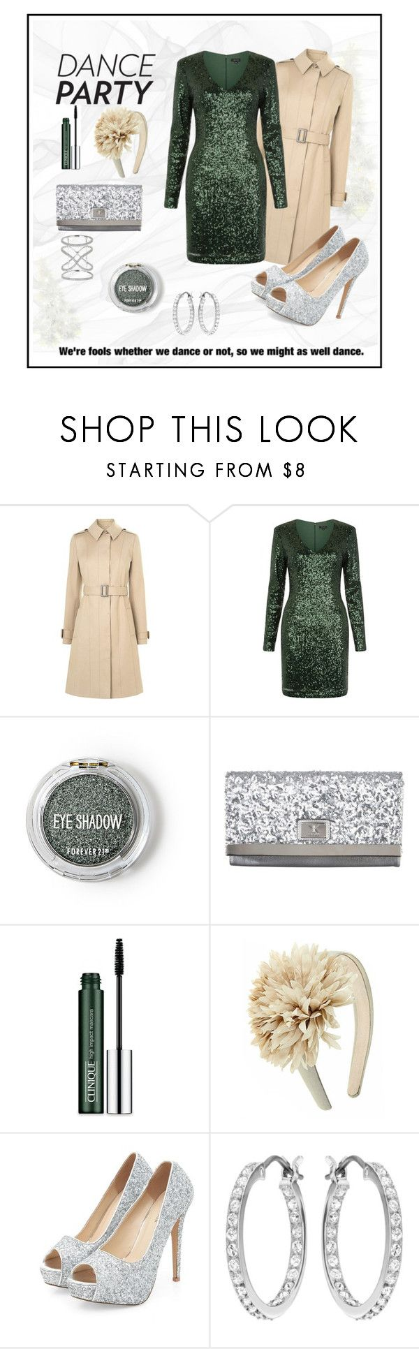 """***Might as Well Dance***"" by breeches ❤ liked on Polyvore featuring L.K.Bennett, Forever 21, Kardashian Kollection, Clinique, Swarovski and Gioelli"