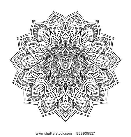 Mandala. Ethnic round ornament. Can be used for coloring book. Vector art