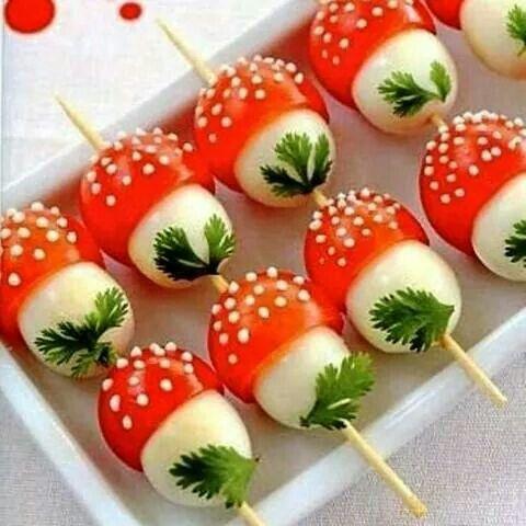Champignons en oeufs de caille et tomate... ...