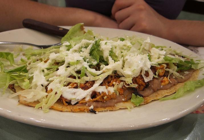 Dish No. 49: Chicken Tinga Huarache at Cholula Bella Deli - Fork in ...