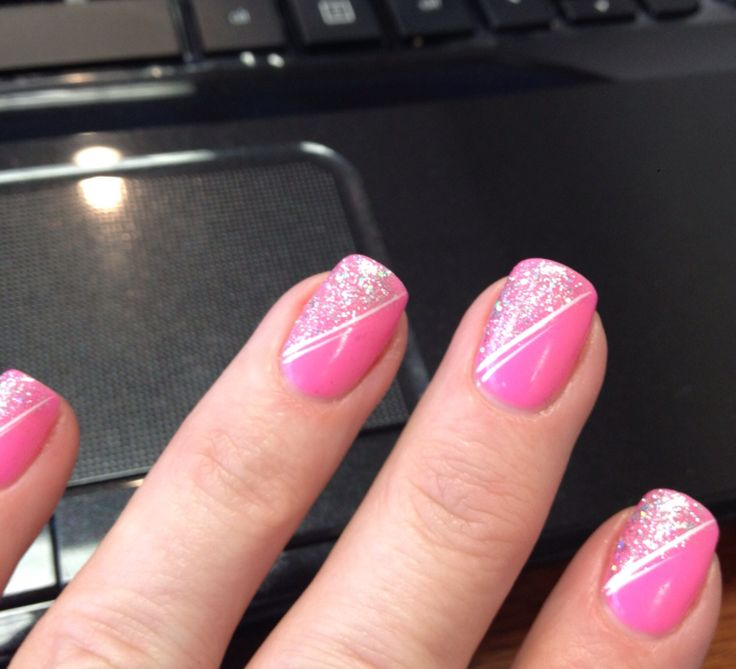Can't go wrong with pink and a little sparkles!