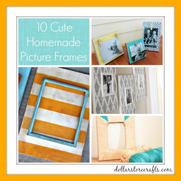 10 Cute Picture Frame Ideas - Dollar Store Crafts