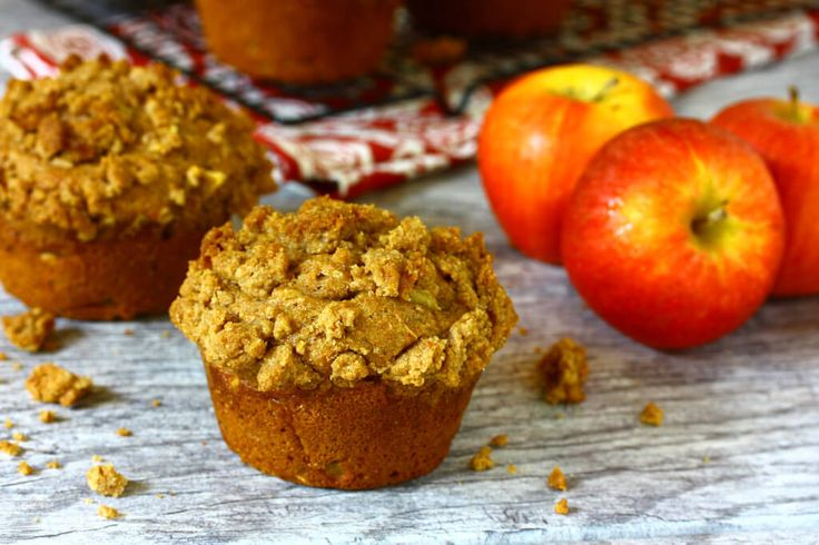 Double Apple Crisp Streusel Muffins