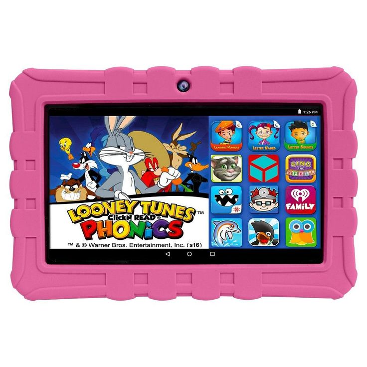 Epik ELT0703 7 16GB Kids Learning Tablet with Intel Quad Core Processor - Pink