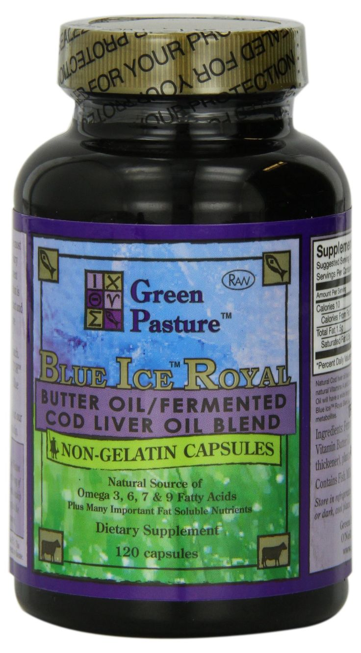 AmazonSmile: Blue Ice Royal Butter Oil / Fermented Cod Liver Oil Blend - 120 Capsules: Health & Personal Care