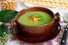 Krem z brokułów i zielonego groszku