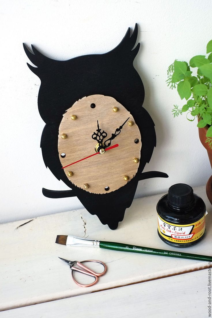Wall clock Owl / Купить Часы настенные Сова - часы, часы настенные, часы интерьерные, часы для детской