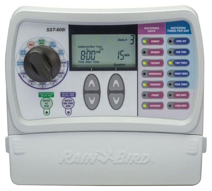 Rain Bird SST600I Simple To Set Indoor Sprinkler Irrigation Timer, 6-Zone  #RainBird