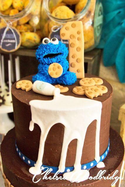 MIlk and Cookies Birthday Cake