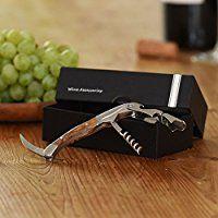 ALBARGO - Weinzubehör -Weinflaschenöffner professionelles Kellnermesser, Sommeliermesser mit 2 Stufen Korkenzieher und integriertem Flaschenöffner, inkl. edler Geschenkverpackung