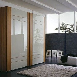 Lam with lacquered glass sliding