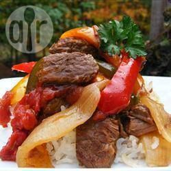 Slow cooker beef and pepper stew @ allrecipes.co.uk