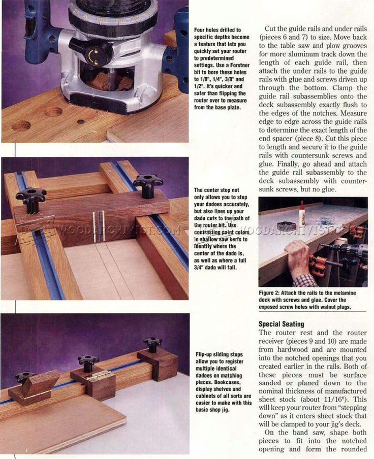These depth holes are a gtreat idea to quickly set an increasing series of steps to. Woodworking ...