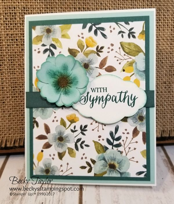 Creating with Becky's Stamping Spot | blog Stampin' Up!, A Whole Lot of Lovely, Rose Wonder, Pansy Punch
