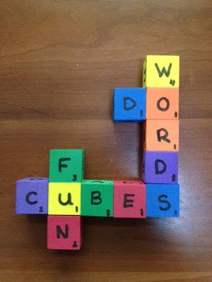 Language Arts Letter Cubes: Fun Literacy Center Freebie