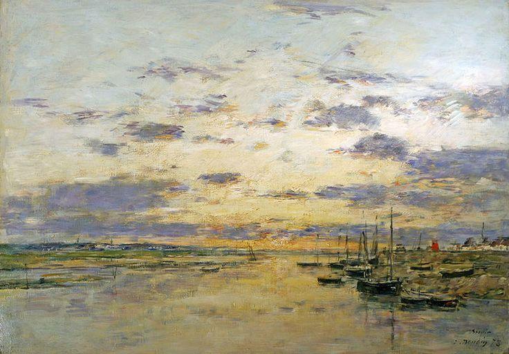 Eugène-Boudin-Coucher-de-soleil-sur-la-Canche.jpg 800×557 pixels