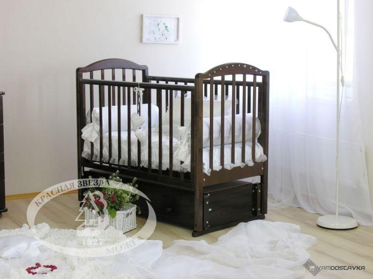 Детская кроватка Можга (Красная Звезда) Регина С-602 (маятник продольный)