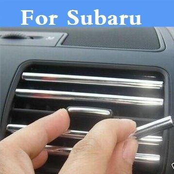 U Decoration strip Car air conditioning outlet blade styling For Subaru Alcyone BRZ Dex Exiga Forester Impreza WRX STi Justy