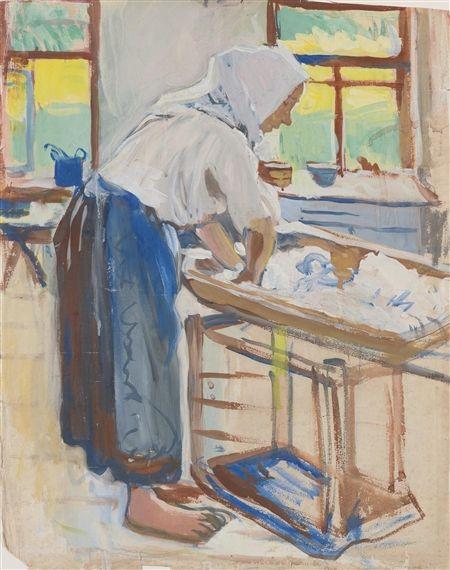 Zinaida Serebriakova - Washer Woman