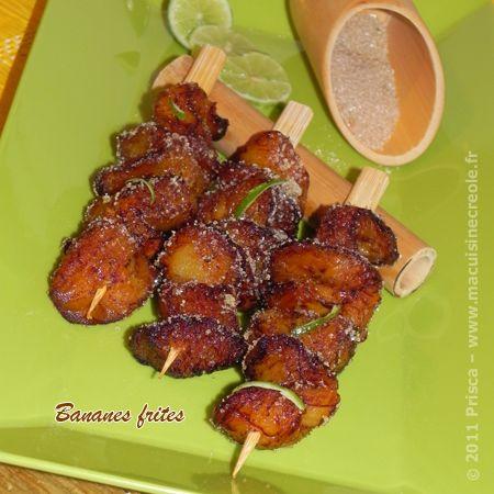 #Recette Bananes (plantains) frites au sucre de canne parfumé