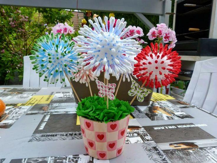 Bri-coco de Lolo: Fleurs avec cure pipes