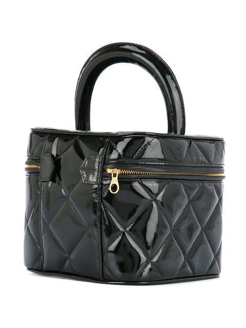 adaee85698c8 Chanel Vintage Quilted CC Logo Cosmetic Vanity Handbag