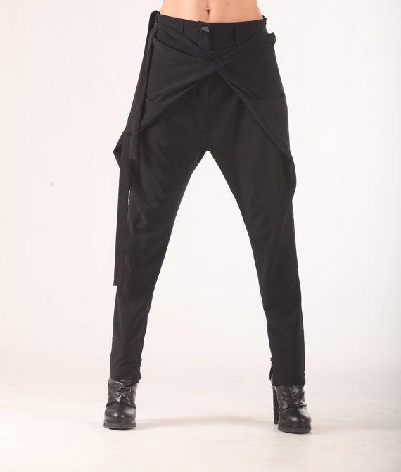 Pantalones Capri recortados pantalones pantalones de por ParadoxBG