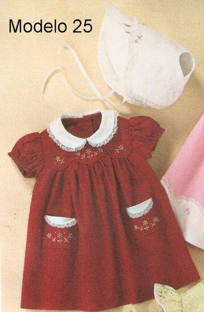 vestidos bebe festa 1 ano molde e passo a passo - Pesquisa Google