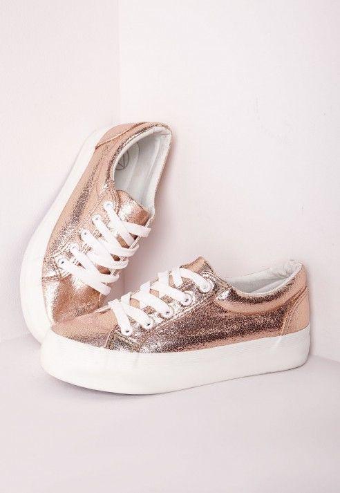 Zapatillas doradas con plataforma, 37. Because fabulous