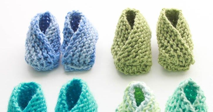 Gina Michele: Easiest Baby Booties Ever! [knitting pattern]