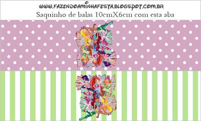 Winx Free Printable Candy Bar Labels.